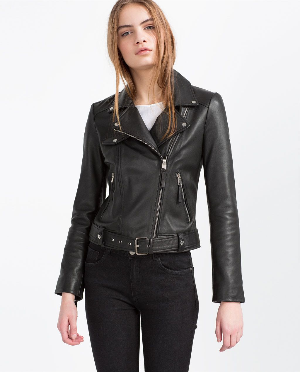 a9c8af3f0b0 BASIC LEATHER JACKET-View All-LEATHER-WOMAN | ZARA United States ...