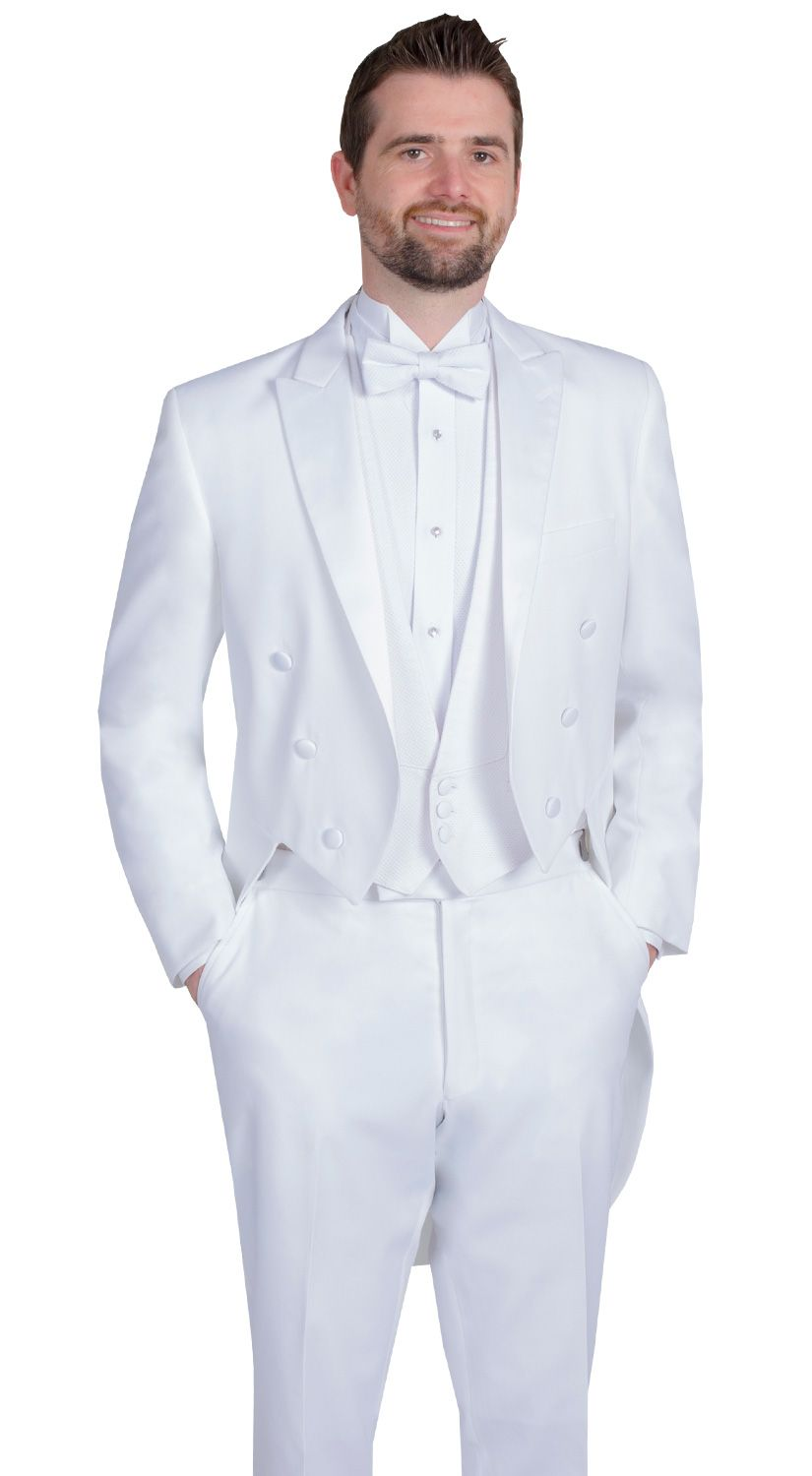 3211f093c0c White Tail Coat by After Six, Fit: Classic, Fabric: Polyester, Lapel: Notch,  Buttons: 6, Sizes available: Boys' 3 - Men's 60L
