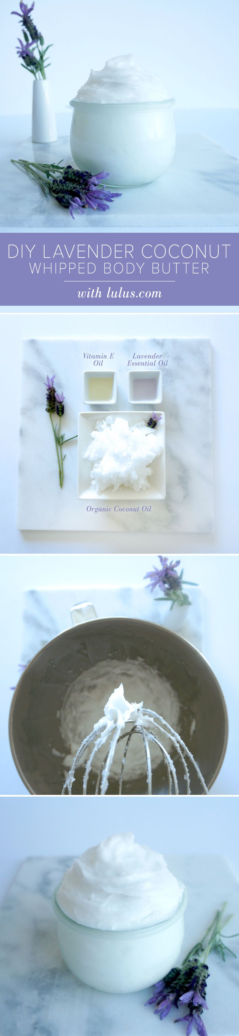 DIY Lavender Coconut Whipped Body Butter