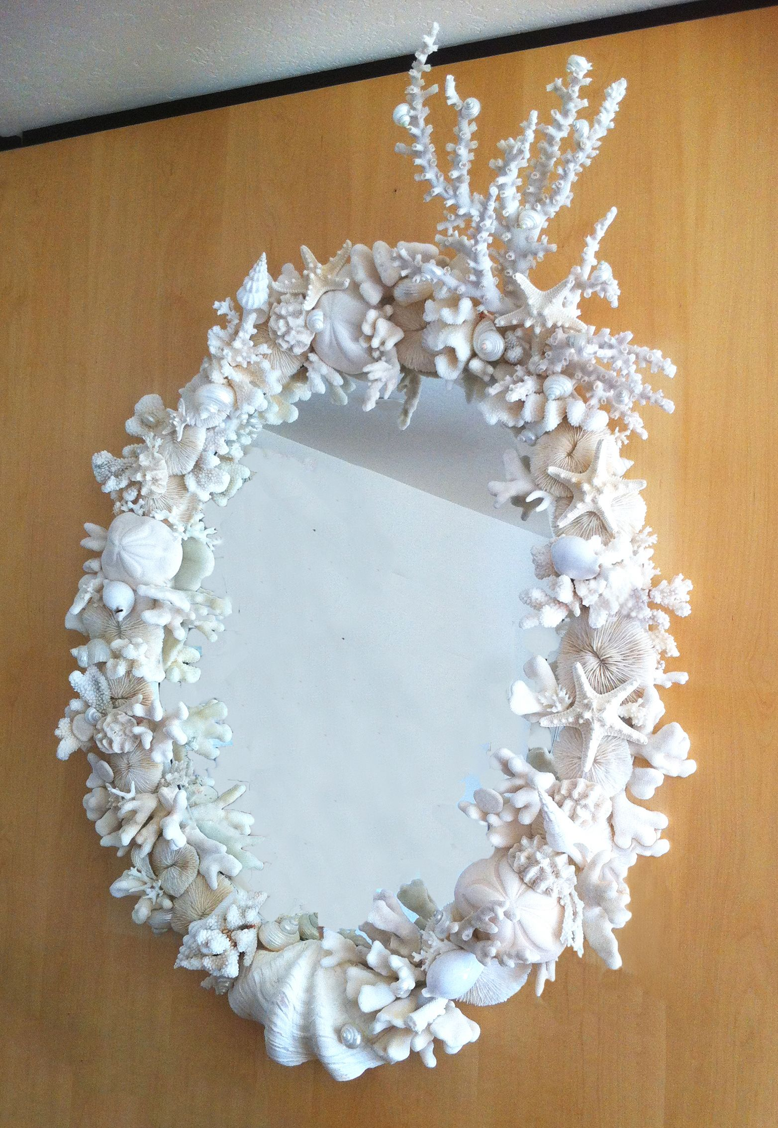 Sea Shell and Coral Mirror