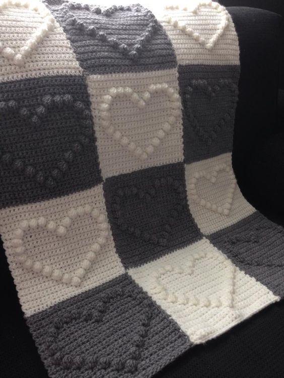 Crochet bobble stitch ~ Free Patterns | tricot | Pinterest | Manta ...