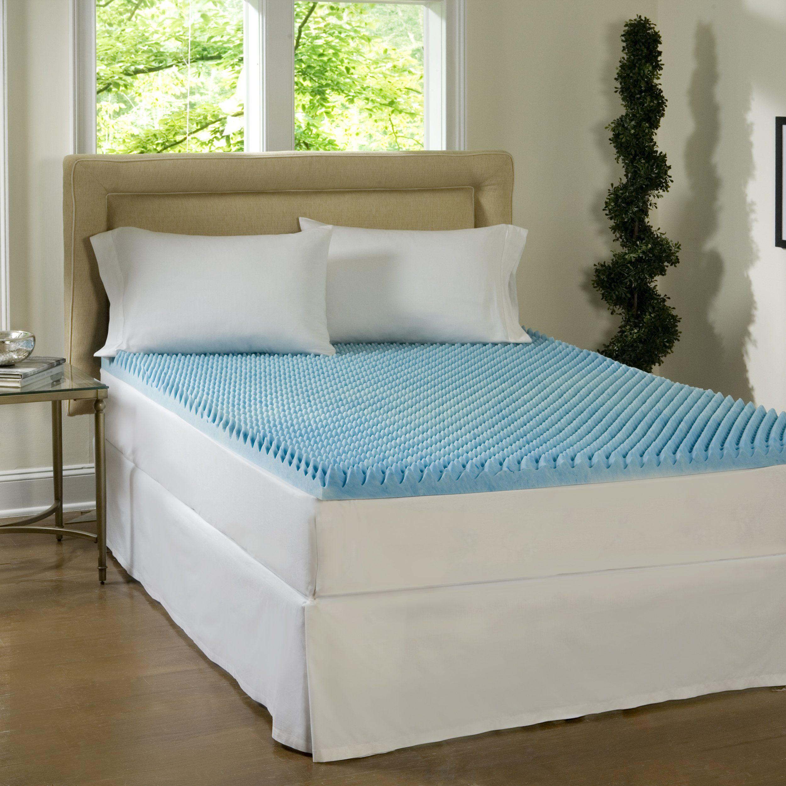 Luxury Egg Crate Foam Mattress Pad King Size