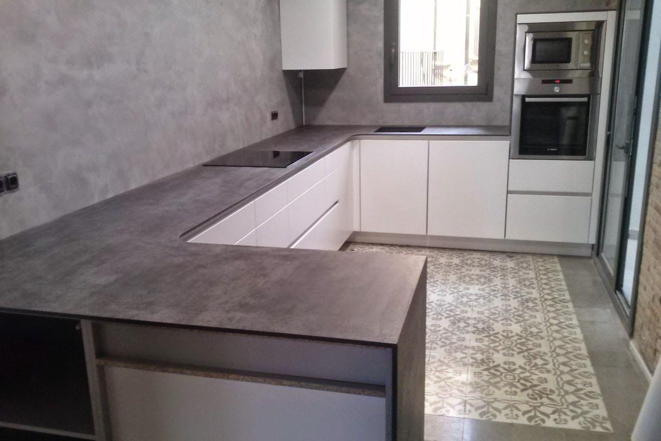 Küchenabdeckung Granit neolith iron gray countertop marbres i granits pere poveda taulells