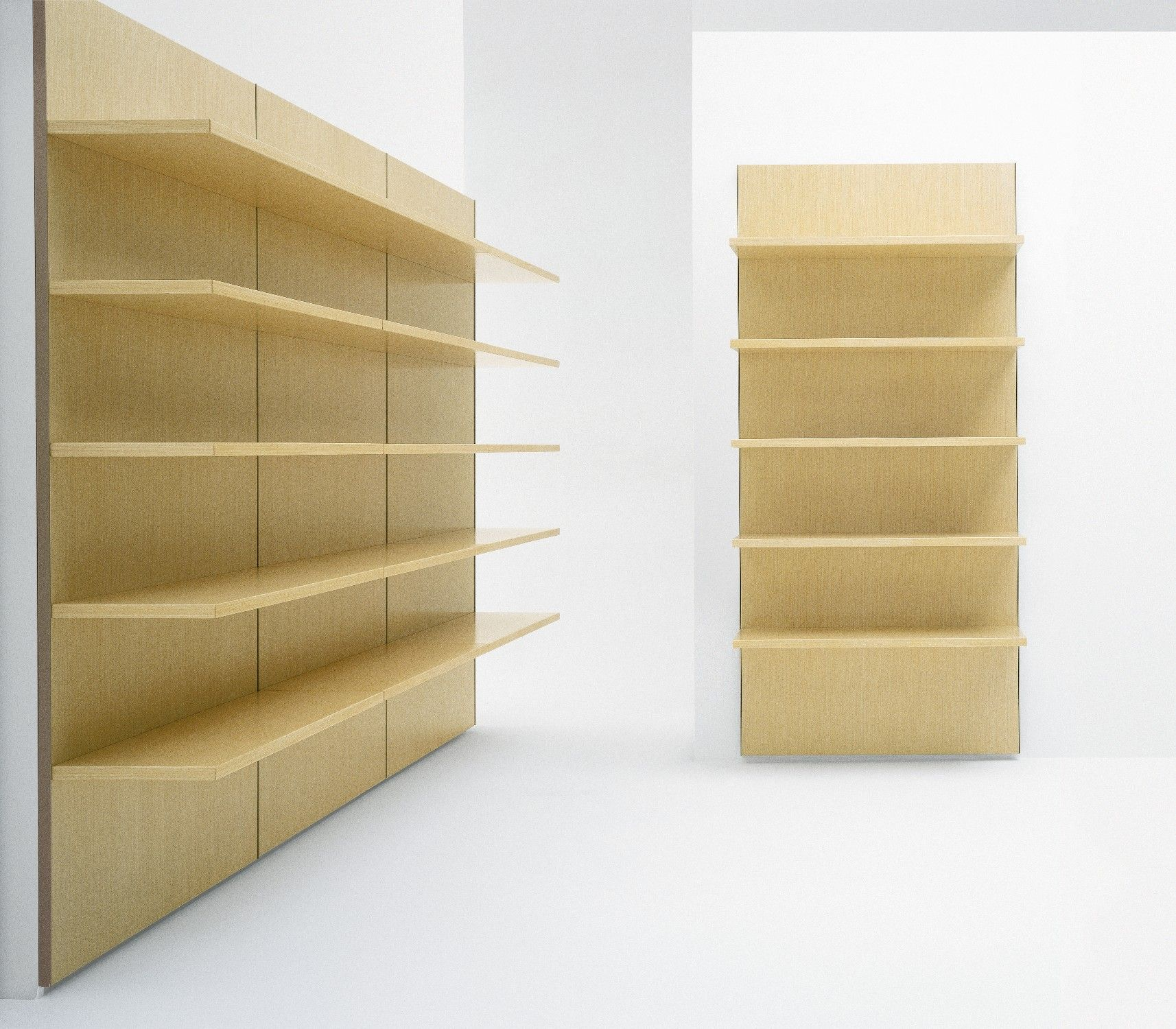 Accessories FurnitureCool Cream Plywood Hanging Shelving