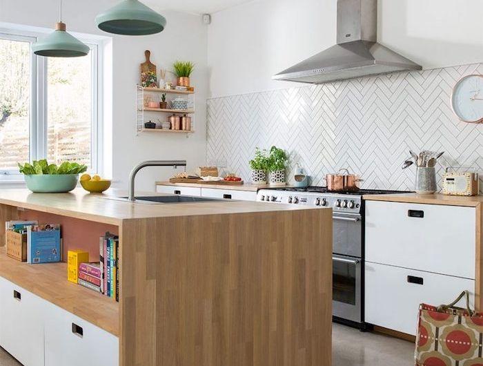 1001 conseils et id es pour am nager une cuisine moderne blanche maison pinterest. Black Bedroom Furniture Sets. Home Design Ideas