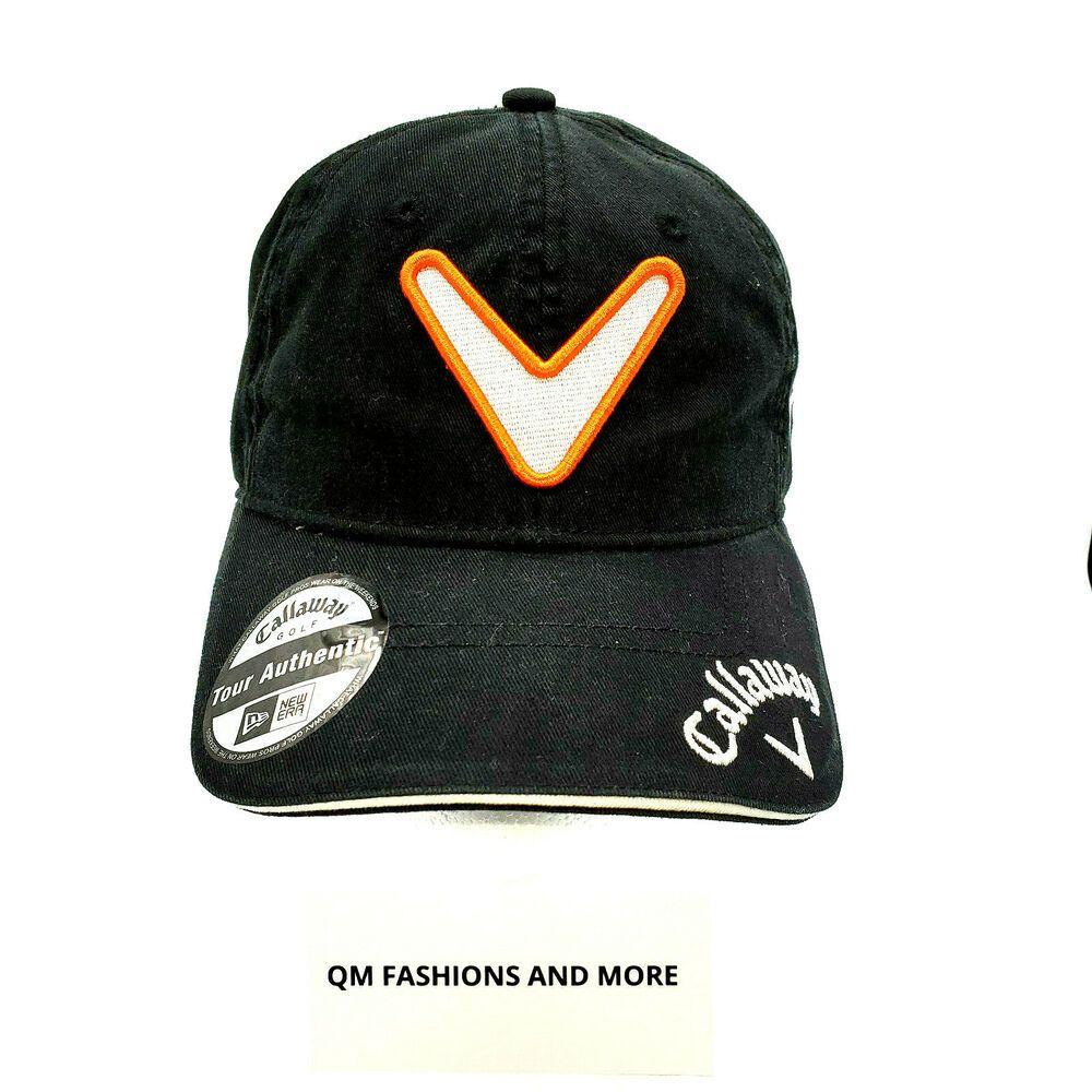 Callaway New Era Black Ft Fusion Tech Tour I Odyssey Strap Back Golf Hat Nwt Neweracallaway Baseballcap Mens Golf Outfit Golf Hats Hats For Men