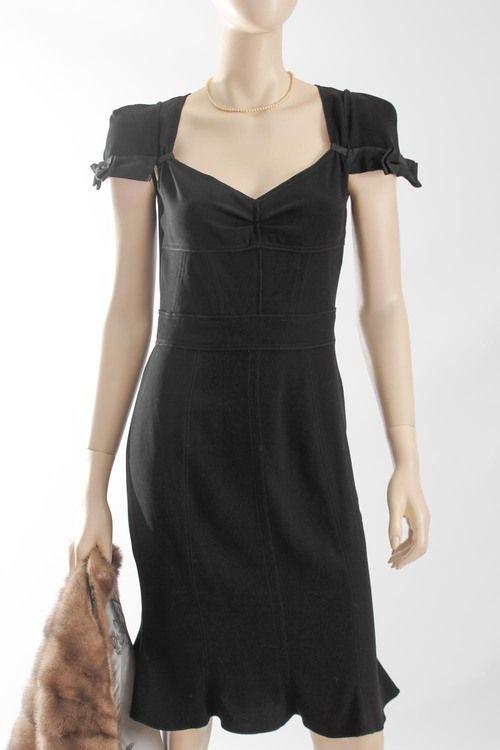 Prada Dress with Exposed Seams and Bow Detail   #Threadflip