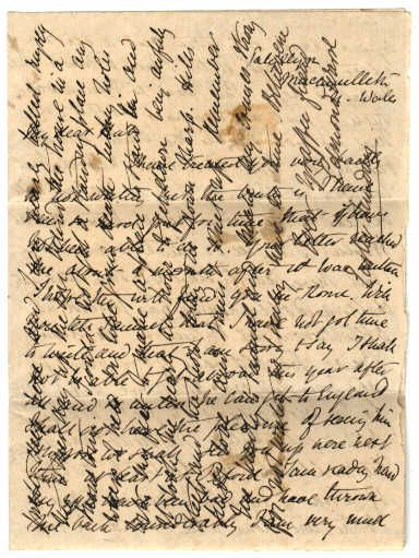 Crossed Letter From The Regency Era. Postage Was Expensive So People Got  Creative And Turned The Letter Around And Wrote Across What They Had  Already ...