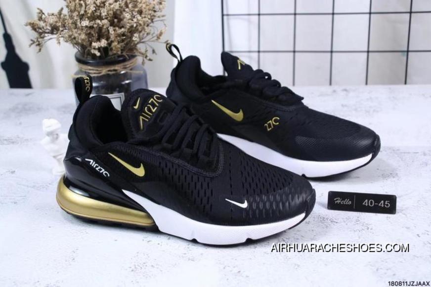 Nike Jacquard Air Max 270 Flyknit Half palm Cushion Black