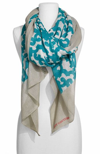 I love the colors and print on this gray and blue scarf, how on earth did Juicy make something this understated and lovely?