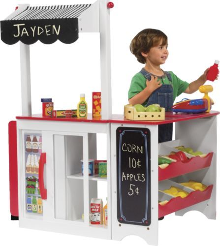 Kids Pretend Store Toy Grocery Stand From One Step Ahead