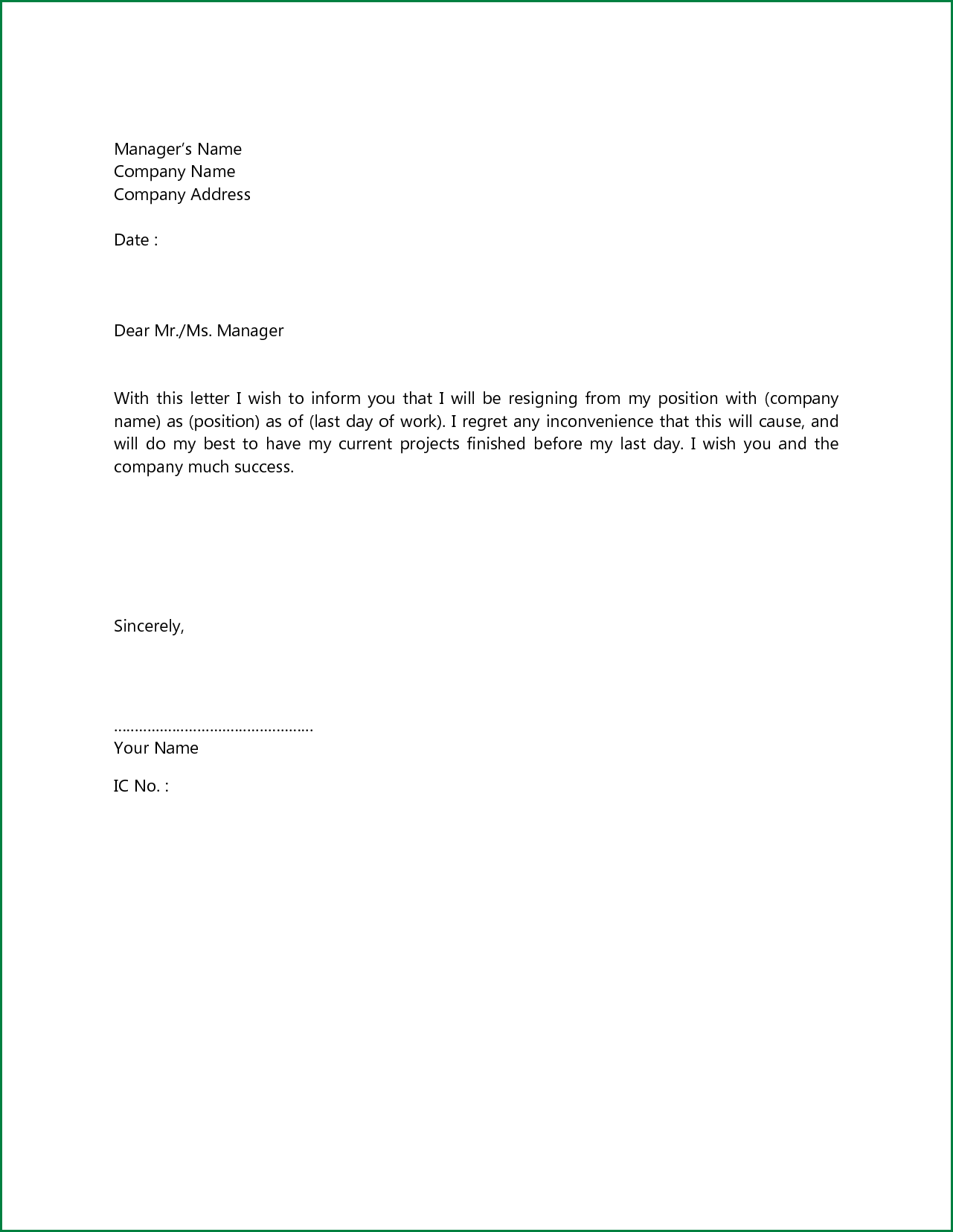 quick cover letter template  simple short cover letter - Forza.mbiconsultingltd.com
