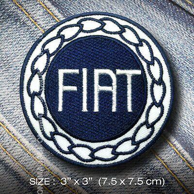 FIAT Old Skull 1999 IRON ON PATCHES Custom Cloth Shirt Cap Vintage Retro Classic ebay link