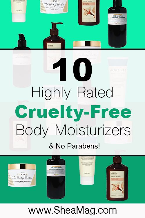 Too many beauty products contain sketchy and toxic ingredients that are harmful to you, animals, and the environment. Here are 10 cruelty-free moisturizers, body lotions, and body butter to hydrate your body. They are all highly rated by consumers, do not contain parabens, and are high in organic natural ingredients. #vegan #crueltyfree #bestbodylotion #crueltyfreemoisturizer #hydrateskin #organicskincare #natualskincare