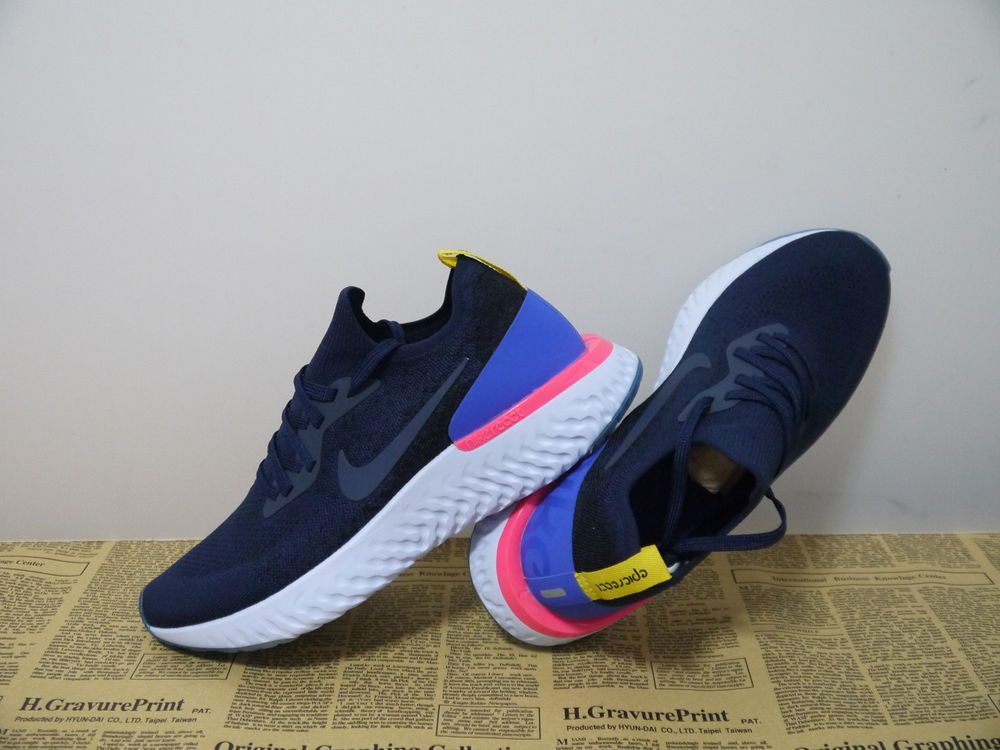 37684443750cf Women s Running Shoes Size 6.5 Nike Epic React Flyknit College Navy ...