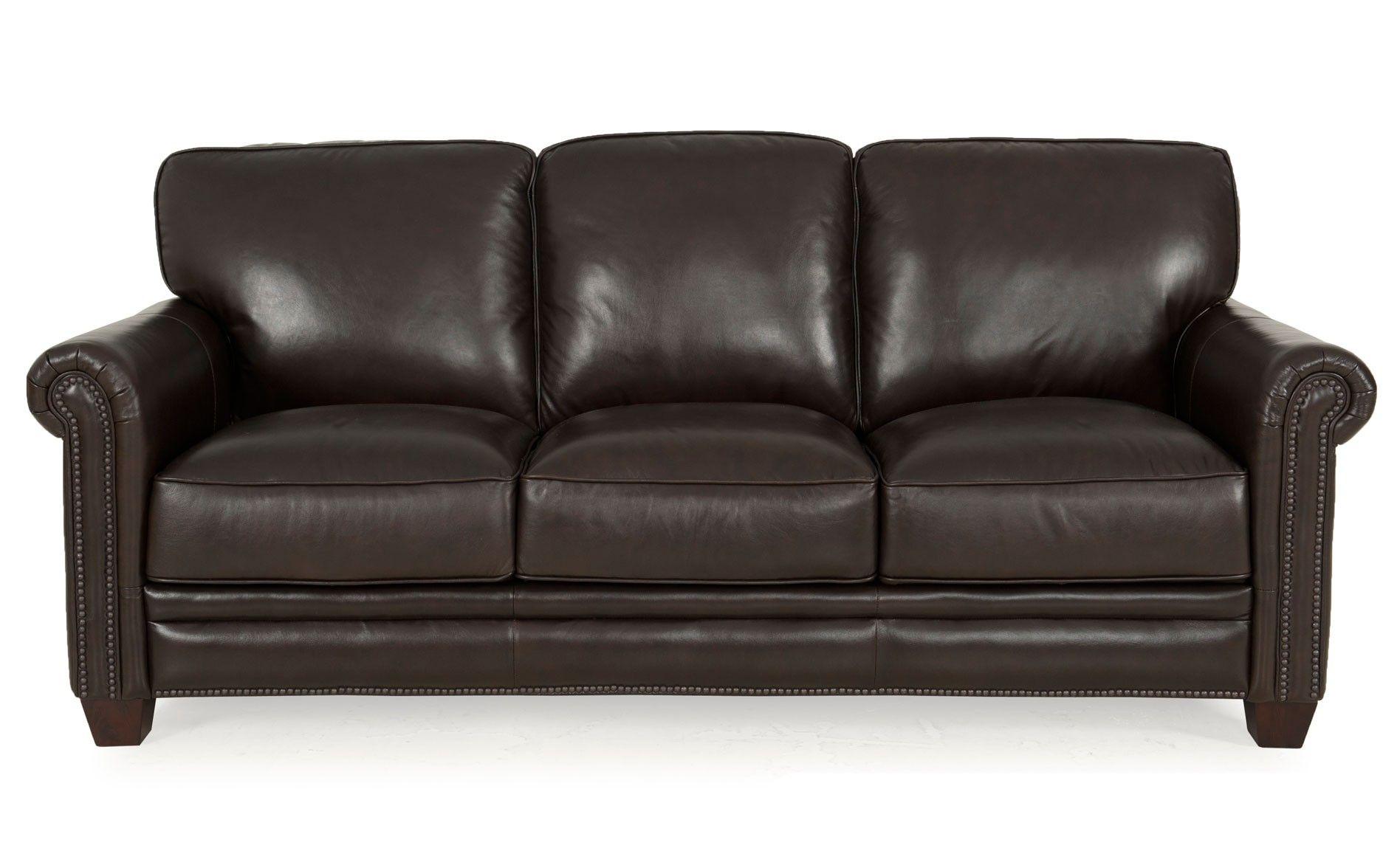 Chesapeake Leather Sofa Molasses Loving Room Sofas