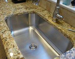 Undermount Kitchen Sink Granite seamless sink in granite kitchen setting large single bowl