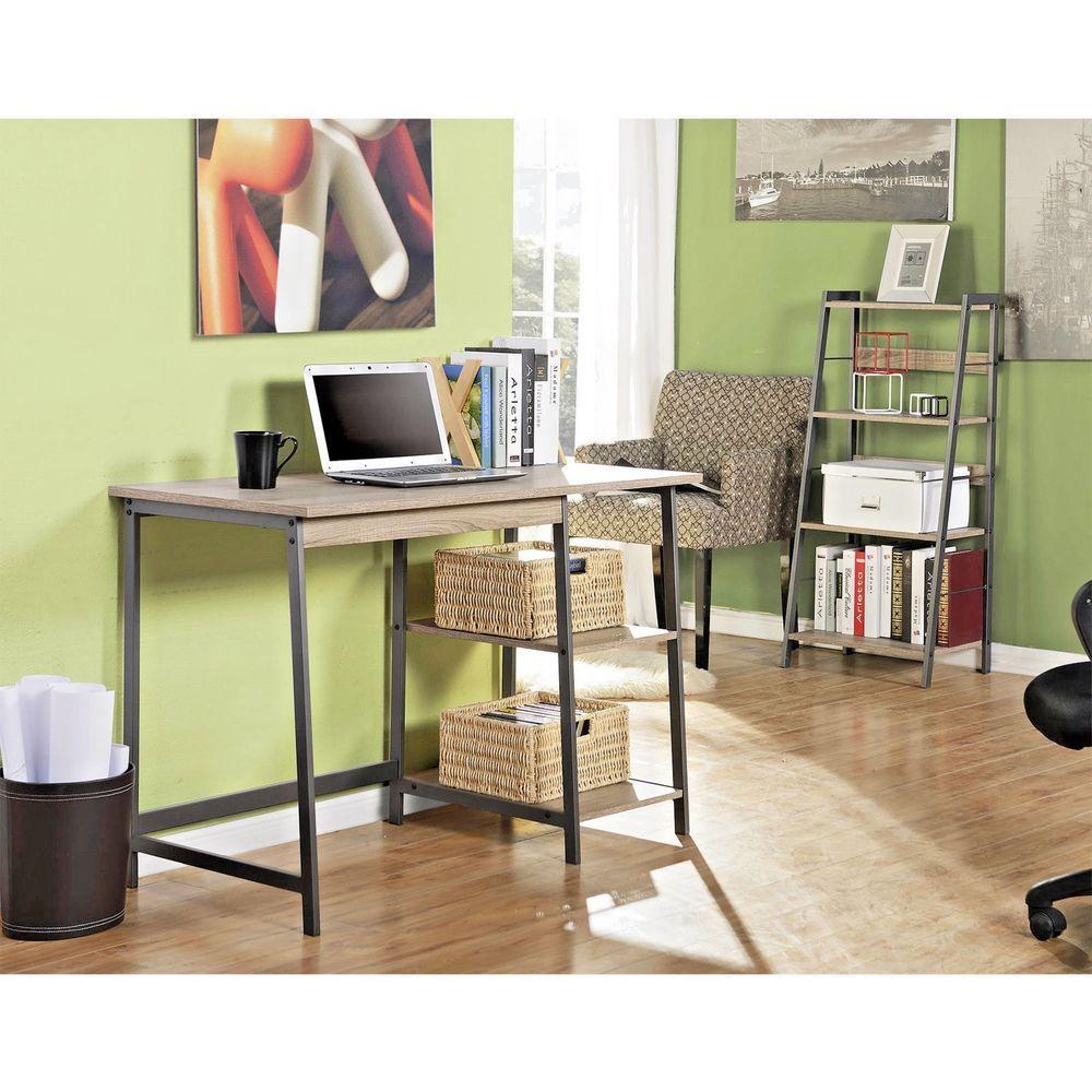 Marvelous Laptop Office Desk Bookcase Set Computer Table Workstation Bookshelf  Furniture