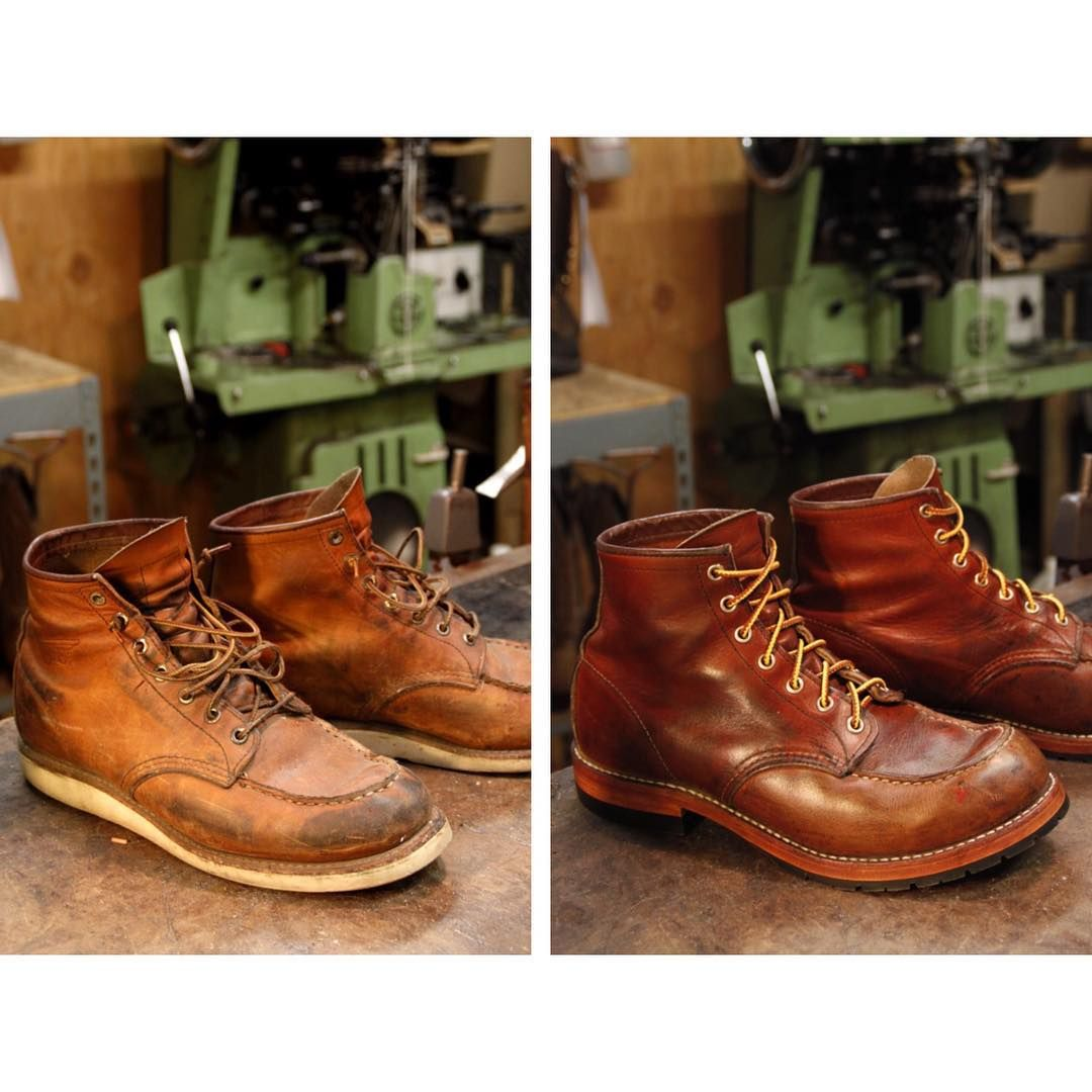 Redwing 875 resole. Put on new leather