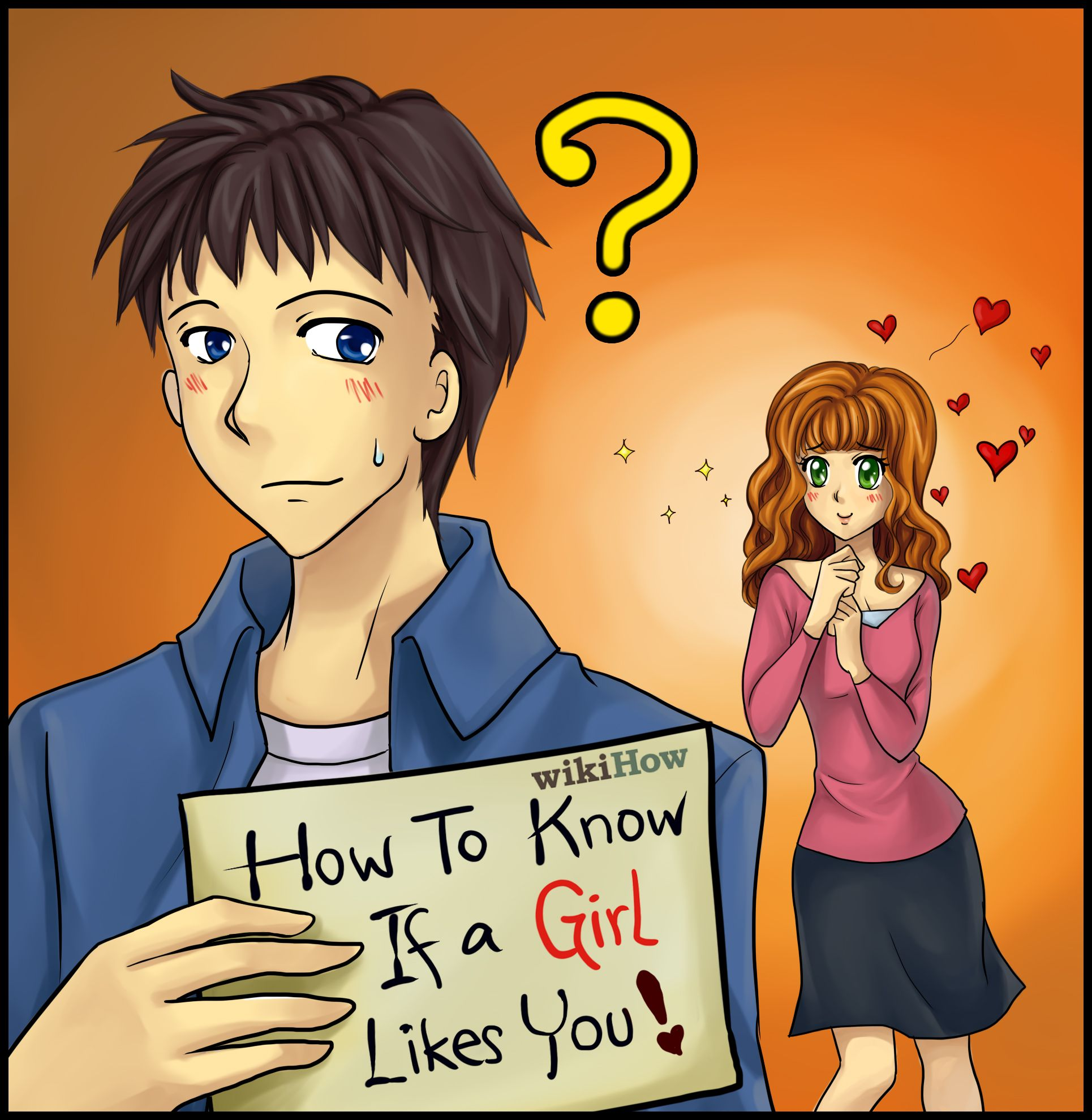 How to tell a girl likes you