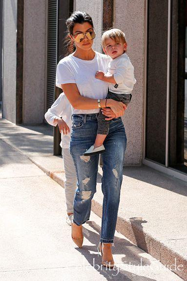 kourtney kardashian and j brand maria straight crop jeans