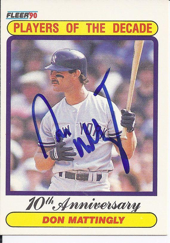 Ny Yankee Don Mattingly Donnie Baseball 1990 Fleer Don Mattingly New York Yankees Baseball Yankees News