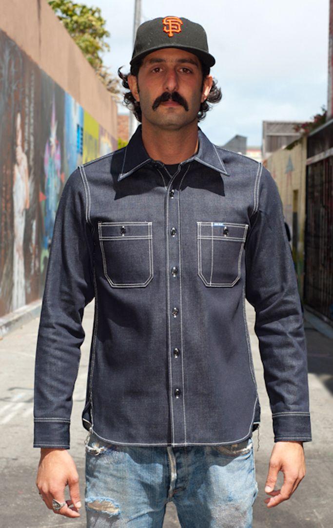 ffdfd13abf Iron Heart 12oz Raw Indigo Selvedge Work Shirt