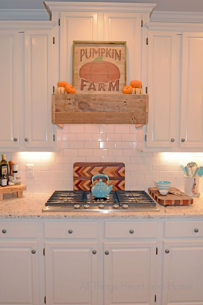 Easy Diy Rustic Range Hood Farmhouse Kitchen Cabinets
