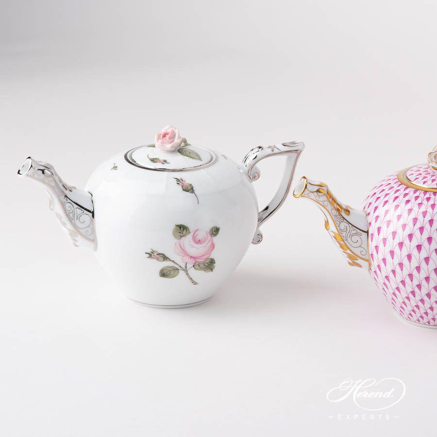 Tea Pot - Miniature - Chinese Bouquet / Apponyi Burgundy #teapots