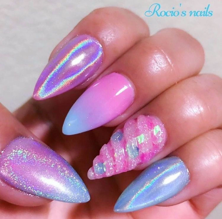 Pink Unicorn Nails Unicorn Nails Nail Designs Acrylic Nail Designs