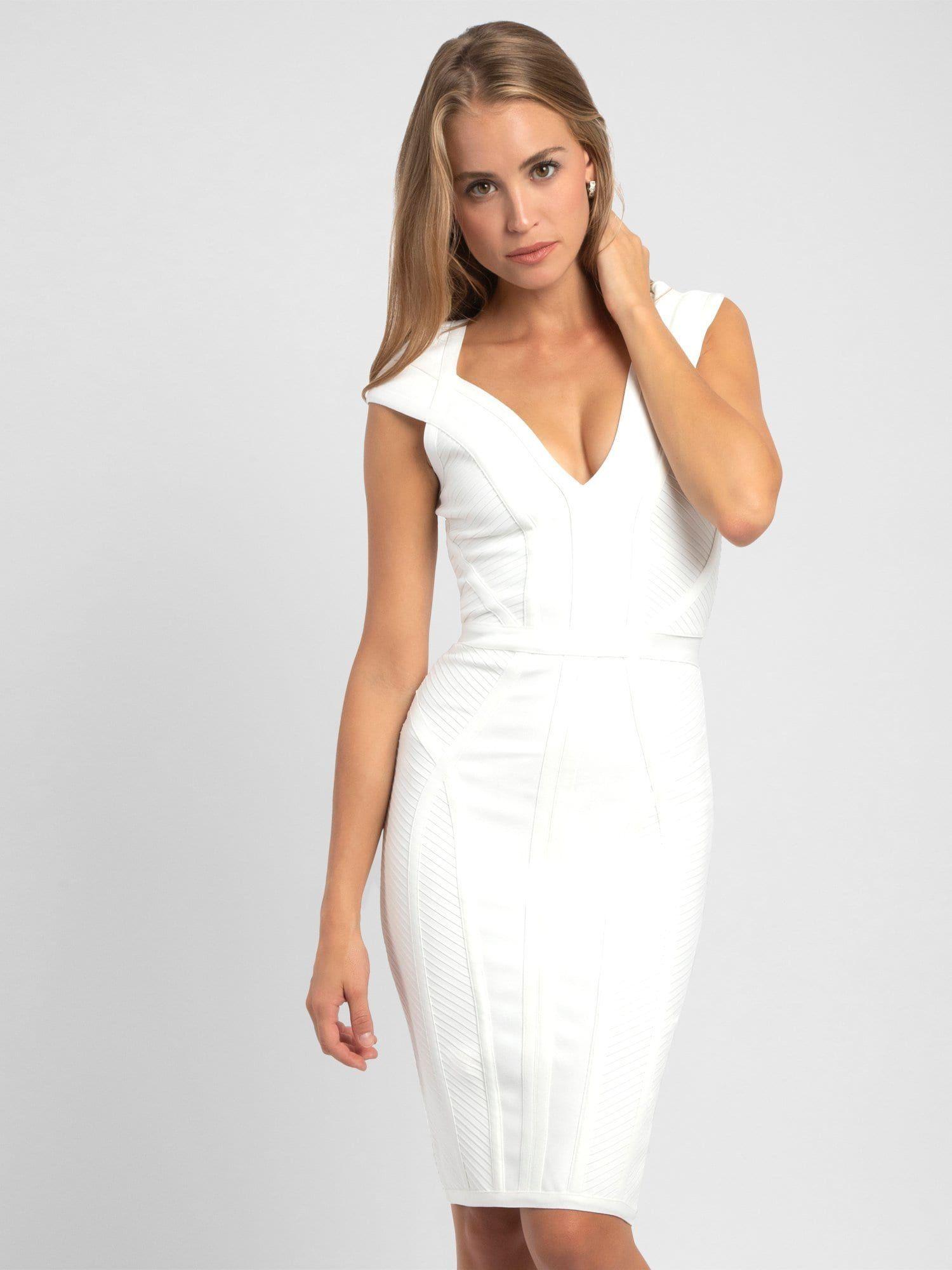 APART Kleid in weiß  Kleider, Figurbetontes kleid und Satinkleid