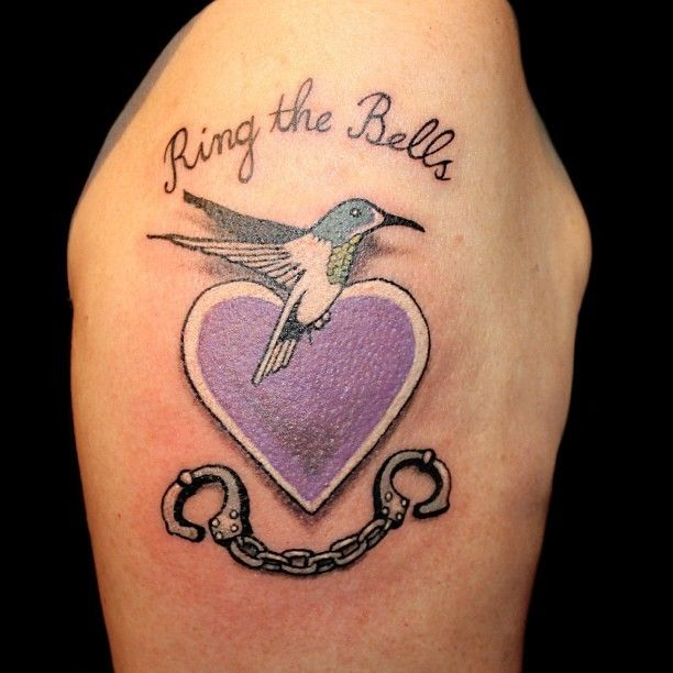 featuring the hummingbird handcuffs symbol