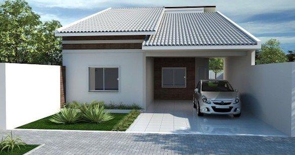 Fachadas de casas sencillas con cochera casasfachadas for Fachadas de casas sencillas