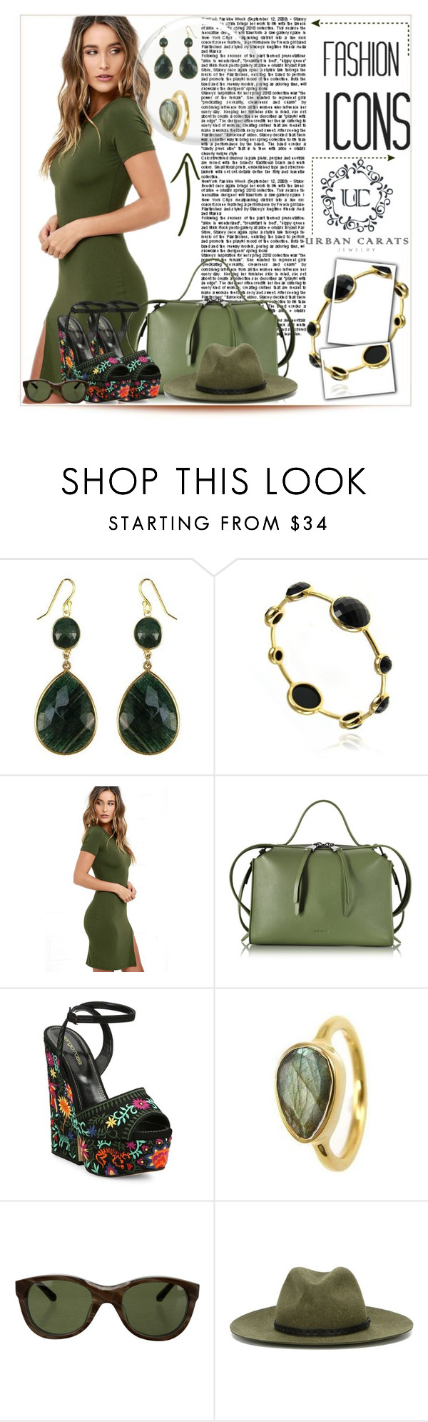 """URBAN CARATS JEWELRY"" by purplerose27 ❤ liked on Polyvore featuring LULUS, Jil Sander, Sergio Rossi, Linda Farrow, rag & bone and urbancarats"