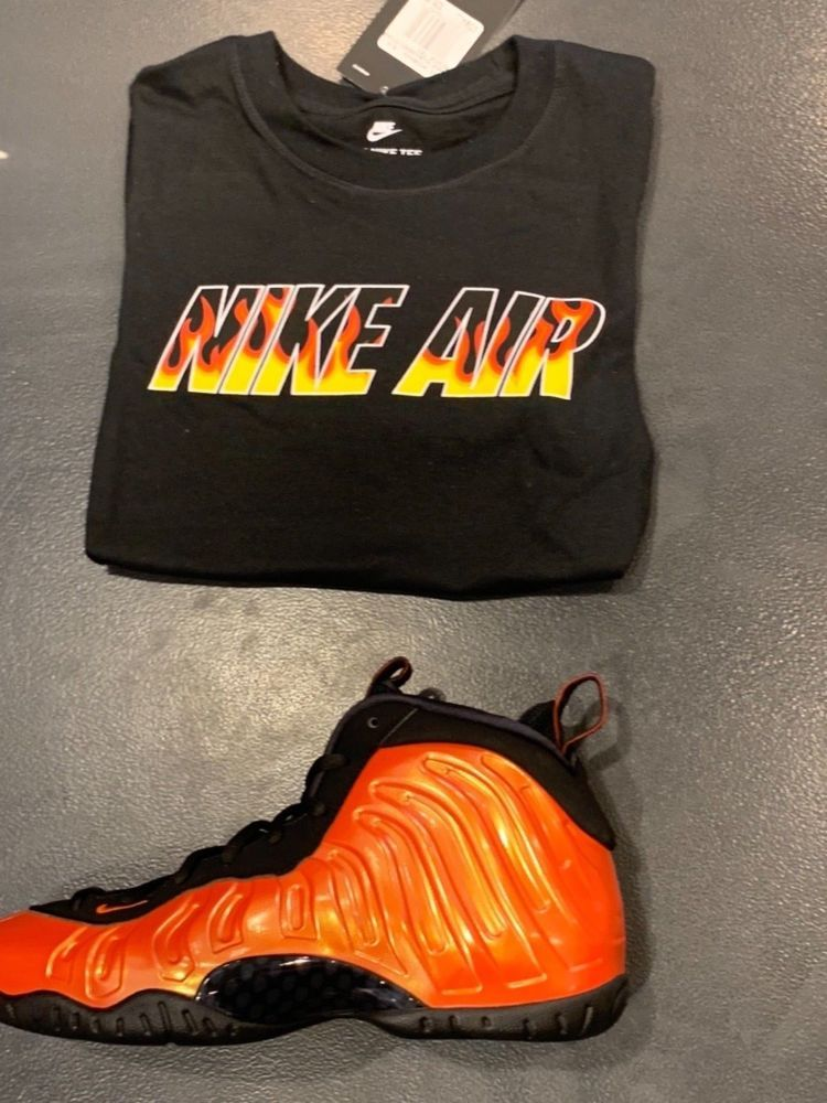 27f57302db5d1 Nike Air Foamposite Habanero Grade School Shirts