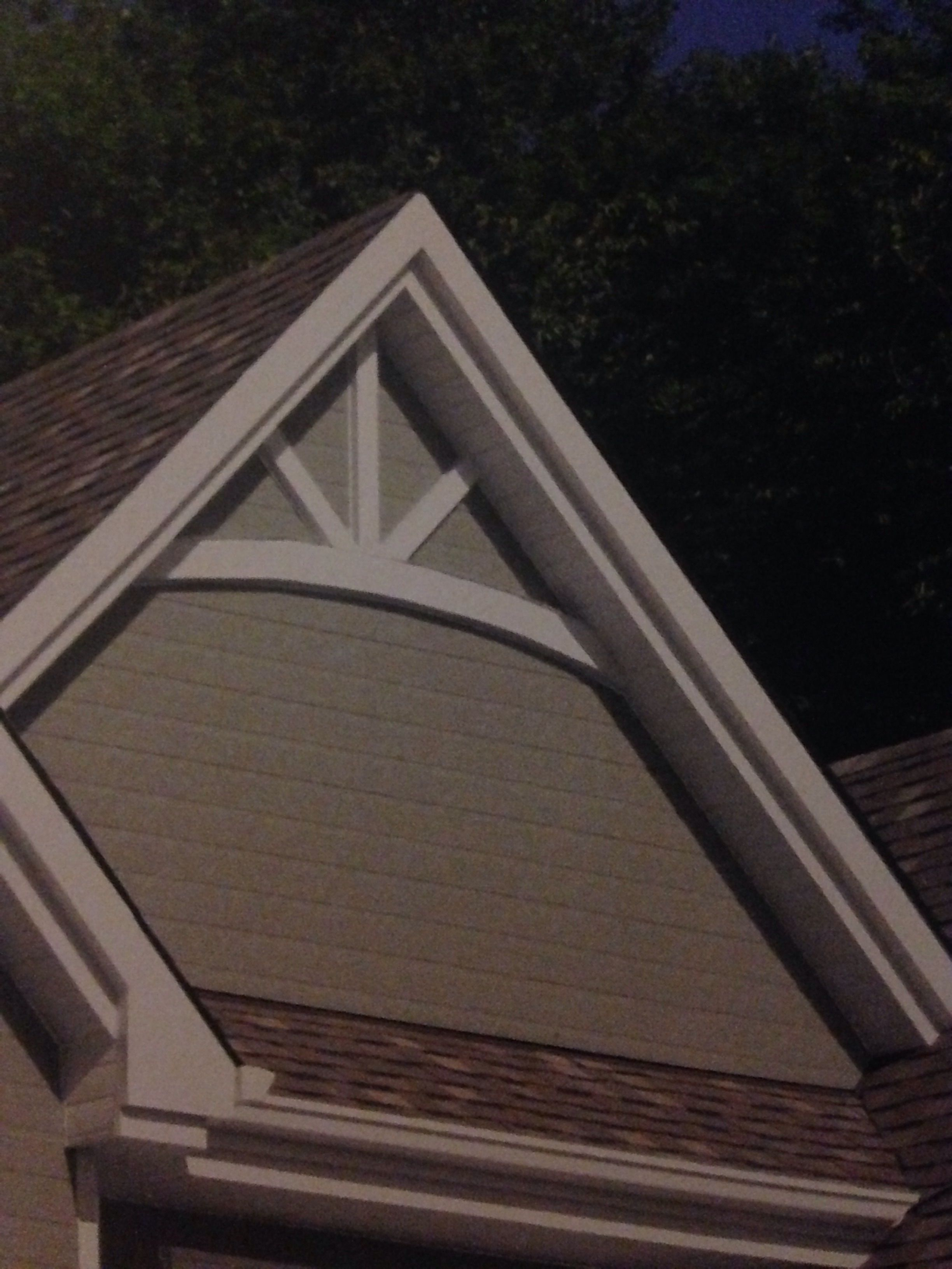 Gable end design for the house in cedar tone Gables