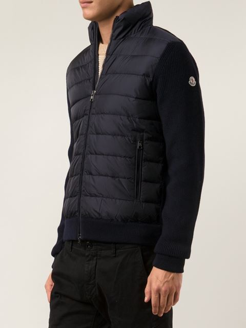 Moncler Wool and Padded Jacket in dark navy #moncler #monclerjackets #menswear #sport #navy www.jofre.eu
