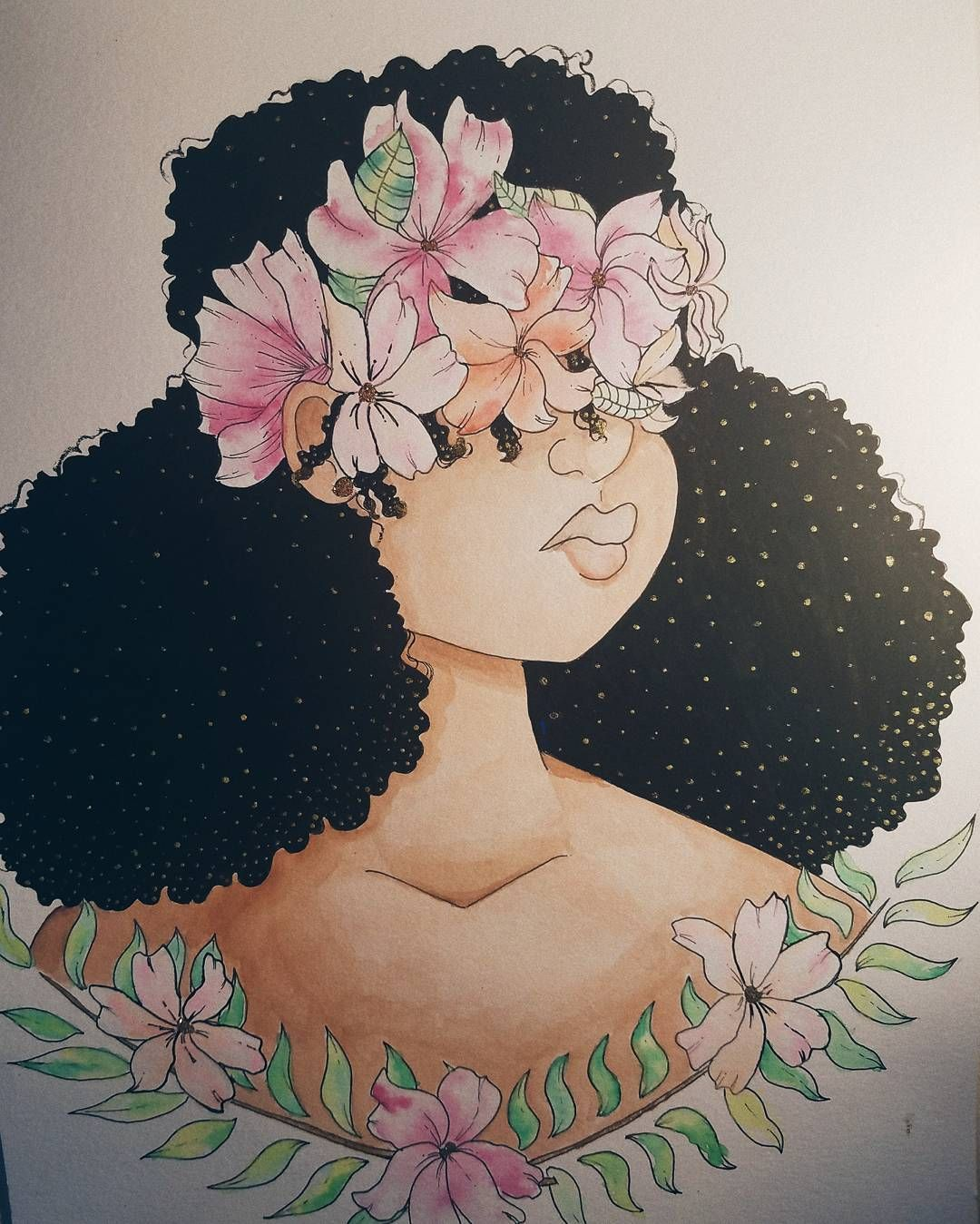 natural hair art. taylorallexis.creatives