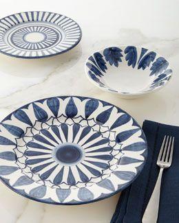 H7R59 12-Piece Azul Leaf Dinnerware Service