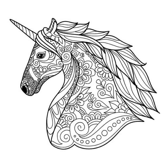Ausmalbilder Einhorn Schwer Animal Coloring Pages Unicorn Coloring Pages Mandala Coloring Pages