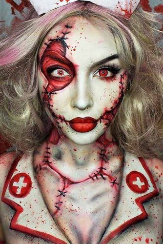 16 Horribly Exciting Scary Halloween Makeup Ideas Halloween - terrifying halloween costume ideas