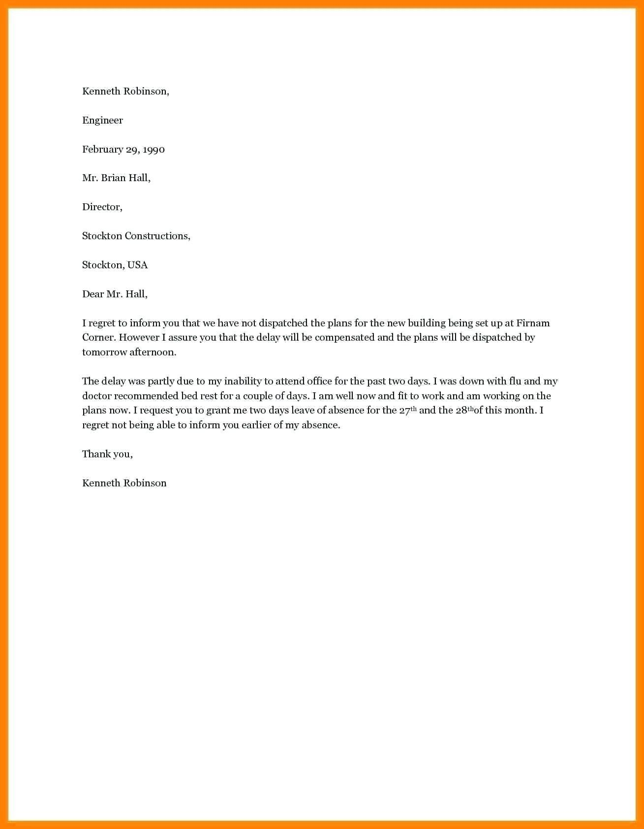 Best Refrence Valid Vacation Leave Request Letter Sample By