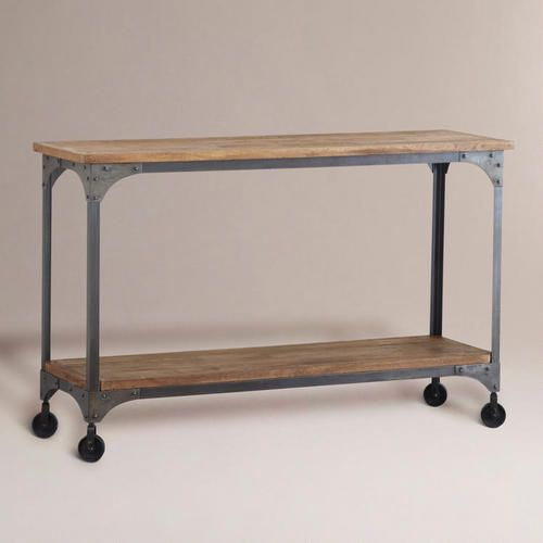 Wood And Metal Aiden Console Table Console Table Furniture