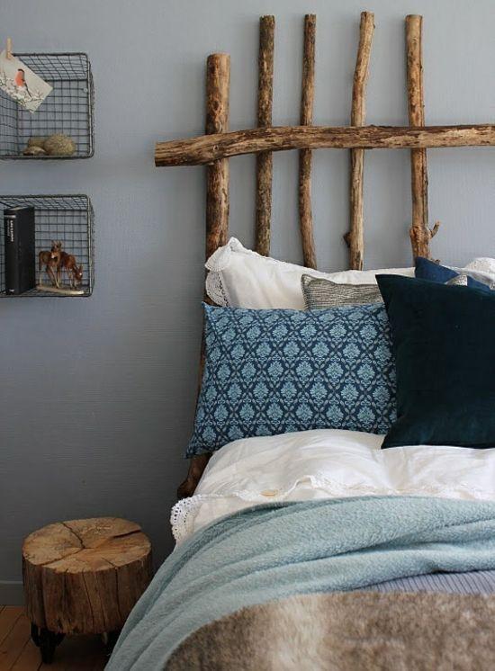 Rustikales schlafzimmer design kopfteil room pinterest schlafzimmer bett und kopfteile - Rustikales schlafzimmer ...