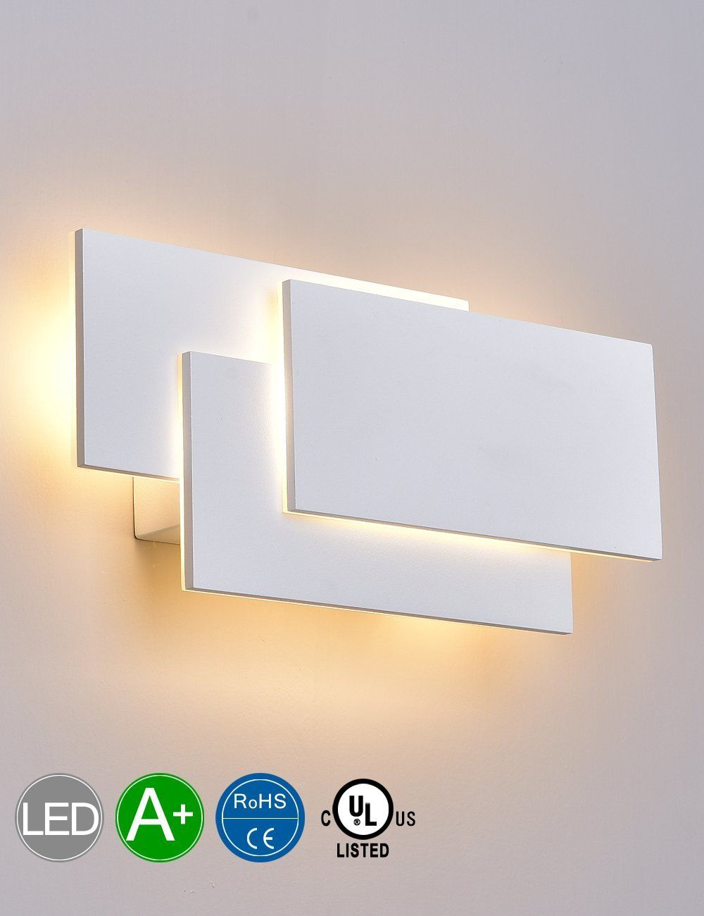 SOLFART LED Up Down Wall Lights Indoor Wall Sconce Lamps Bedroom
