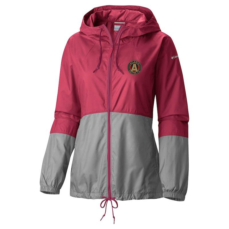 087b504fd Atlanta United FC Columbia Women's Flash Forward Full-Zip Windbreaker Jacket  – Red