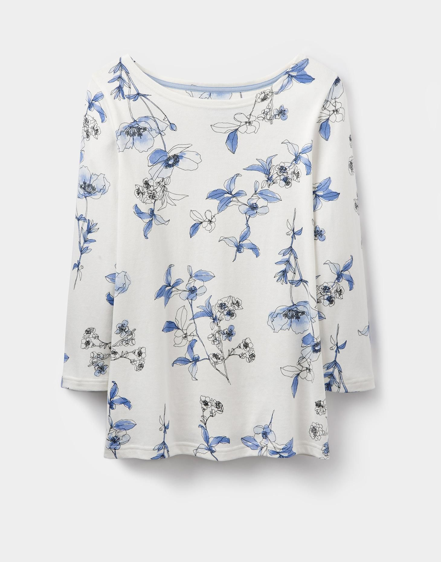 Harbour print Cream Anemone Floral Jersey Top | Joules UK | Wardrobe ...