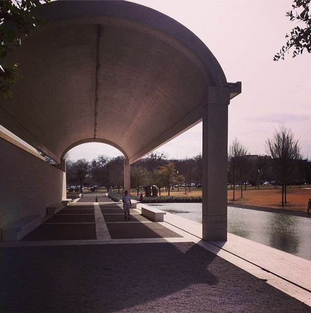 Enjoying the day at the @Kimbell Art Museum #DFWandBeyond