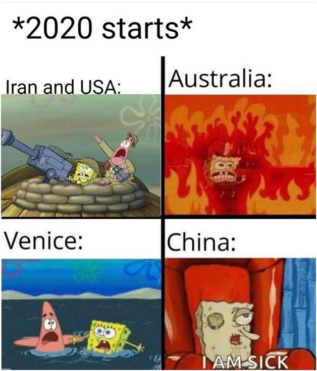 2020 A Series Of Unfortunate And Meme Ful Events Funny Spongebob Memes Really Funny Memes Spongebob Funny
