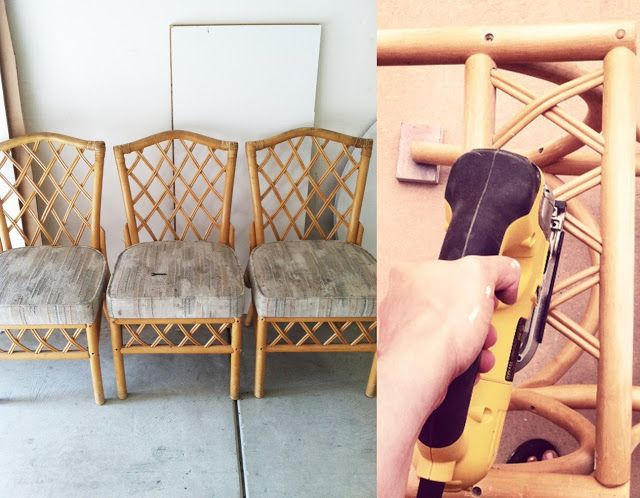 Refinishing Rattan Chairs Tutorial Garden Furniture Bamboo Porch